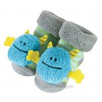 Stephan Baby Rattle Socks Blue Monsters Fits 3-12 Months