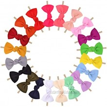 20pcs Baby Girls Hair Bows Headband Nylon Hair Band Elastic Hair Accessories for Kids Infants Toddlers