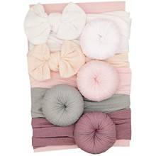 URKEY Baby Turban headbands and Classic Bows Headwraps for Newborn Baby Infant Gifts