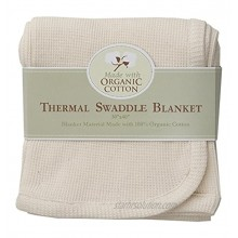 American Baby Company Organic Cotton Thermal Receiving Blanket