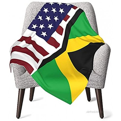 Baby Blankets United States and Jamaica Flag Cozy Throw Blankets for Newborns Nursery Stroller Receiving Toddlers Crib Bedding for Boys Girls 30 x 40 Inch