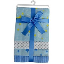 bambini Printed Flannel Receiving Blanket Four Pack