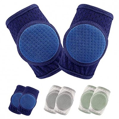Baby Knee Pads for Crawling Knee Pads for Baby Adjustable Protector for Toddler 3 Pairs