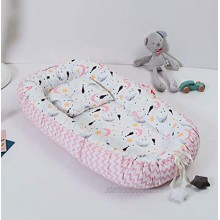 Traddy Baby Lounger Baby Nest Portable Super Soft 100% Cotton and Breathable Newborn Lounger Perfect for Co-Sleeping