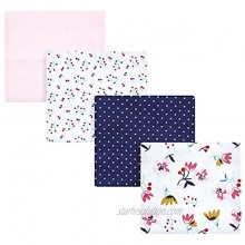 Hudson Baby Unisex Baby Cotton Flannel Receiving Blankets Fall Flowers One Size
