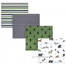 Hudson Baby Unisex Baby Cotton Flannel Receiving Blankets Woodland Tales One Size
