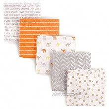Luvable Friends Unisex Baby Cotton Flannel Receiving Blankets Camel 5-Pack One Size