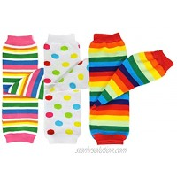 allydrew 3 Pack Leg Warmers in Various Styles for Babies and Toddlers